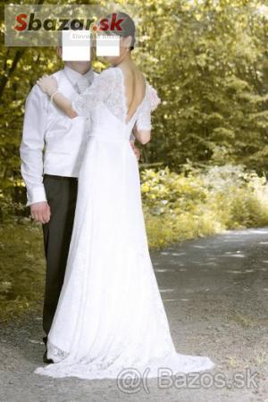 fd30a737d0ee Predám - Krajkové svadobné šaty šité na mieru- vintage