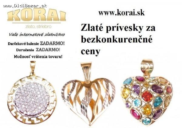 Predám - Zlaté prívesky KORAI 9dd3d44e807