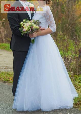 30f4b73d44d9 Predám - Čipkované svadobné šaty