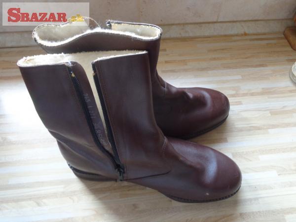 5df43bdc4 Predám - dôstojnícké zimné členkové topánky (čižmy