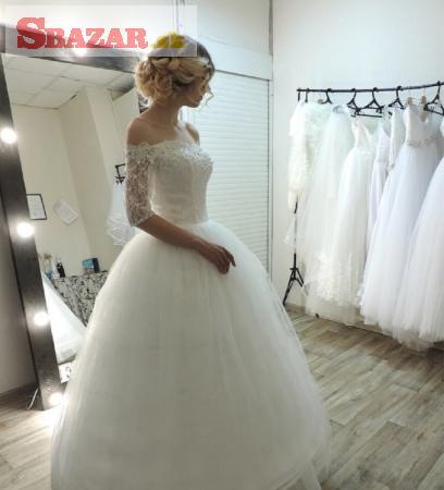 f1212d313d2a Predám - Krásné svadobné šaty za 120