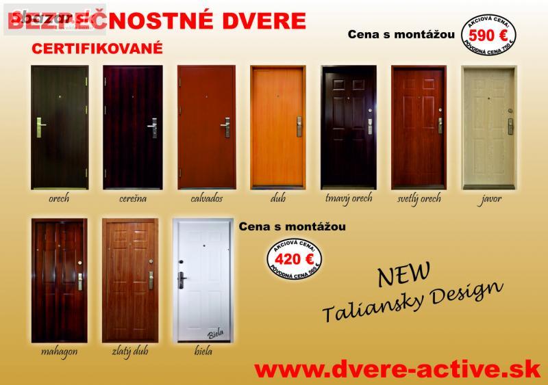 98546e8de8 Predám - Bezpečnostné dvere AKCIA 420
