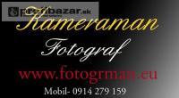 Svadobný kameraman, profesionálny fotograf