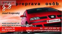 Preprava osob,taxi,na letiska Krakow,Katowice,Brat