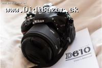 Na predaj .... Nikon D610 24MP digitálna zrkadlov