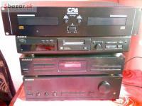 Zesilovač,cd player,mini disk VŠE LEVNĚ.