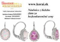 Náušnice z bieleho zlata od KORAI šperky