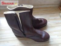 dôstojnícké zimné členkové topánky (čižmy