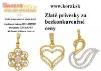 Prívesky zo žltého zlata od KORAI