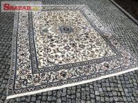 Krásný perský koberec NAIN+ hedvábí 295x230