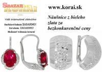 Náušnice z bieleho zlata od KORAI