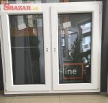 Na predaj nové biele plastové okno 1250 x 1100