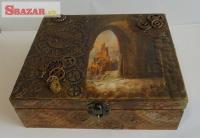 Dřevěná šperkovnice - Steampunk